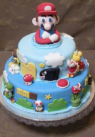 super mario tårtbild